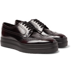 Prada - Spazzolato Leather Wingtip Brogues