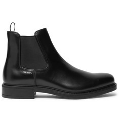 Prada Leather Chelsea Boots