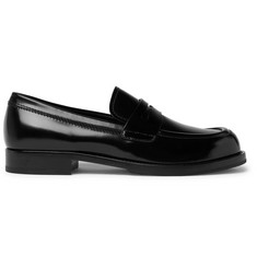 Prada Spazzolato Leather Penny Loafers