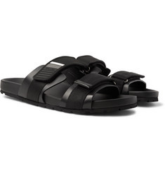 Prada - Rubber and Webbing Sandals