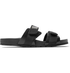 Prada Rubber and Webbing Sandals