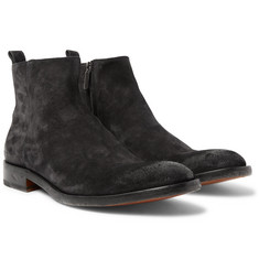 O'Keeffe - Washed-Suede Boots