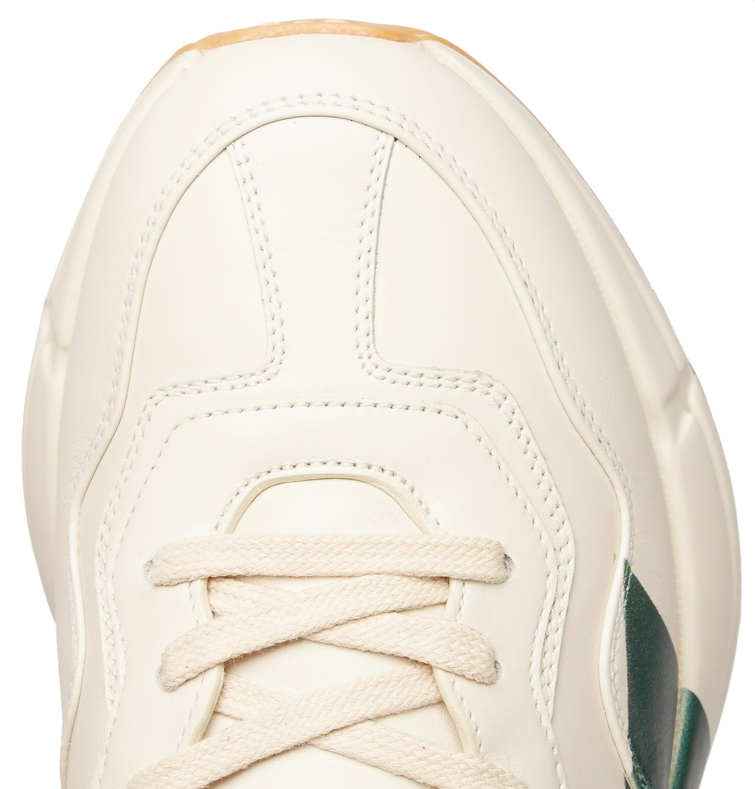 Gucci - Rhyton Striped Leather Sneakers b1be333769322