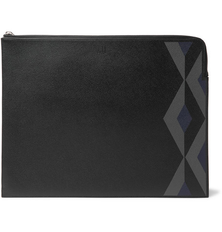 Dunhill Cadogan Printed Full-grain Leather Pouch