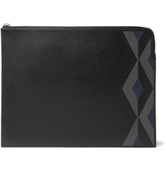 Dunhill - Cadogan Printed Full-Grain Leather Zip-Around Pouch