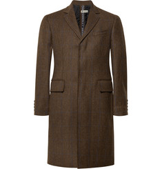 Connolly - Slim-Fit Herringbone Stretch-Wool Tweed Coat