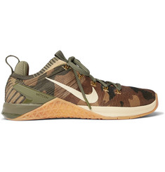 Nike Training Metcon DSX Rubber-Trimmed Camouflage-Print Flyknit 2 Sneakers