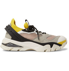 CALVIN KLEIN 205W39NYC Mesh, Leather and Rubber-Panelled Neoprene Sneakers