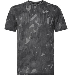 Nike Running Rise 365 Perforated Camouflage-Print Dri-FIT Mesh T-Shirt