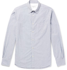 Officine Generale Benoit Slim-Fit Striped Cotton-Seersucker Shirt