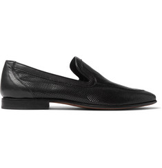 Officine Generale + Carvil Perforated Leather Loafers