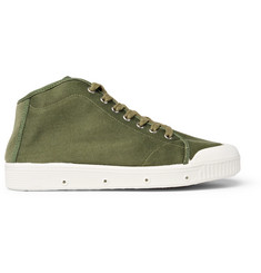 Officine Generale + Spring Court Canvas High-Top Sneakers
