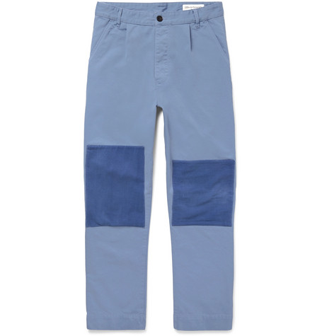 Patchwork Cotton Twill Trousers by Officine Generale