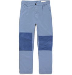 Officine Generale Patchwork Cotton-Twill Trousers