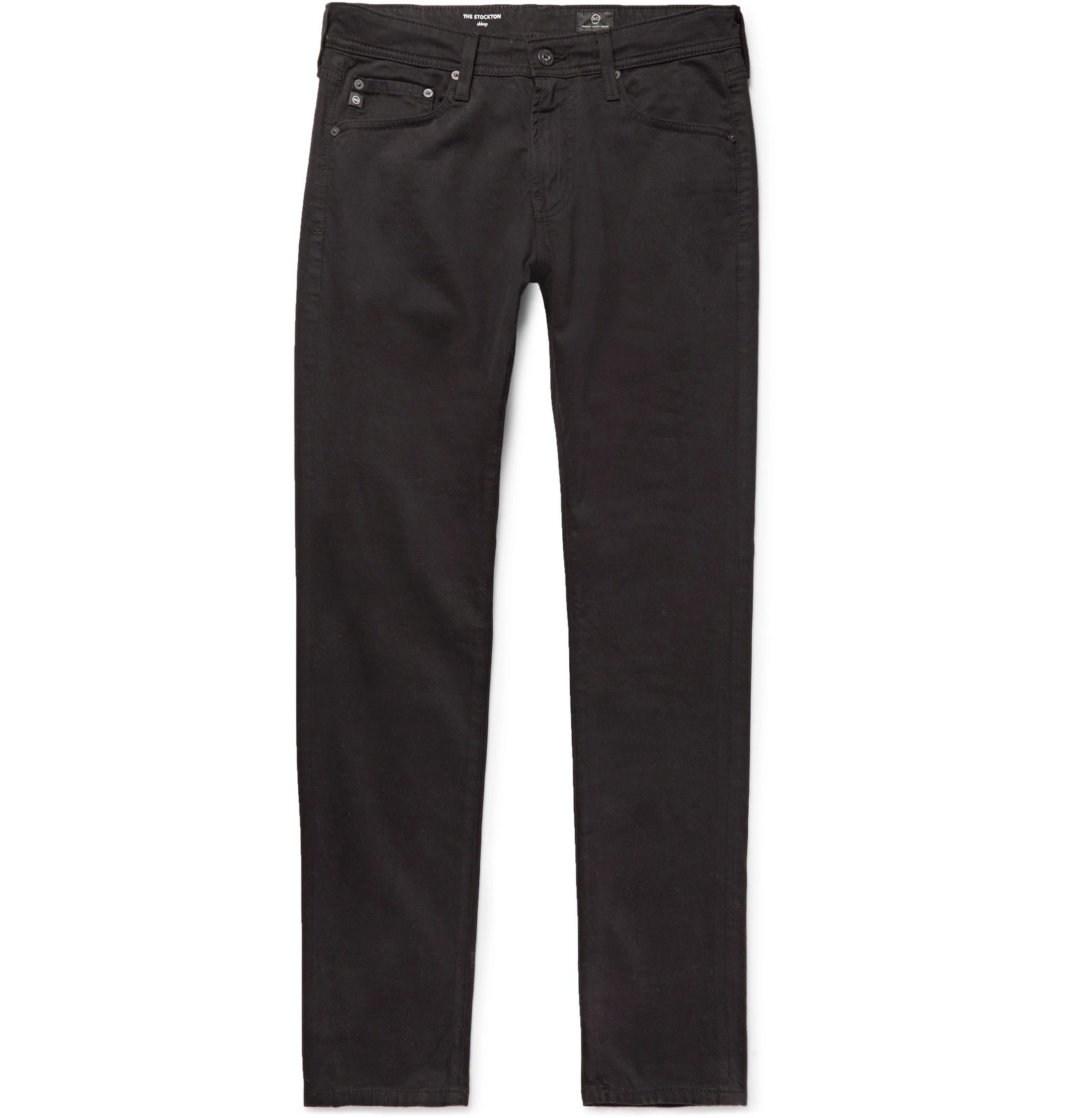 Stockton Skinny-fit Brushed Stretch-cotton Trousers AG - Adriano Goldschmied
