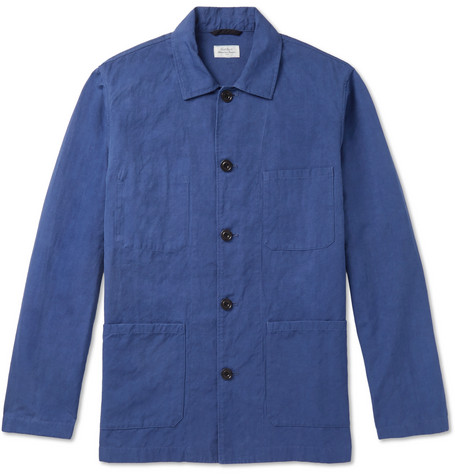 Jobson Cotton And Linen Blend Canvas Chore Jacket by Hartford