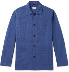Hartford - Jobson Cotton and Linen-Blend Canvas Chore Jacket