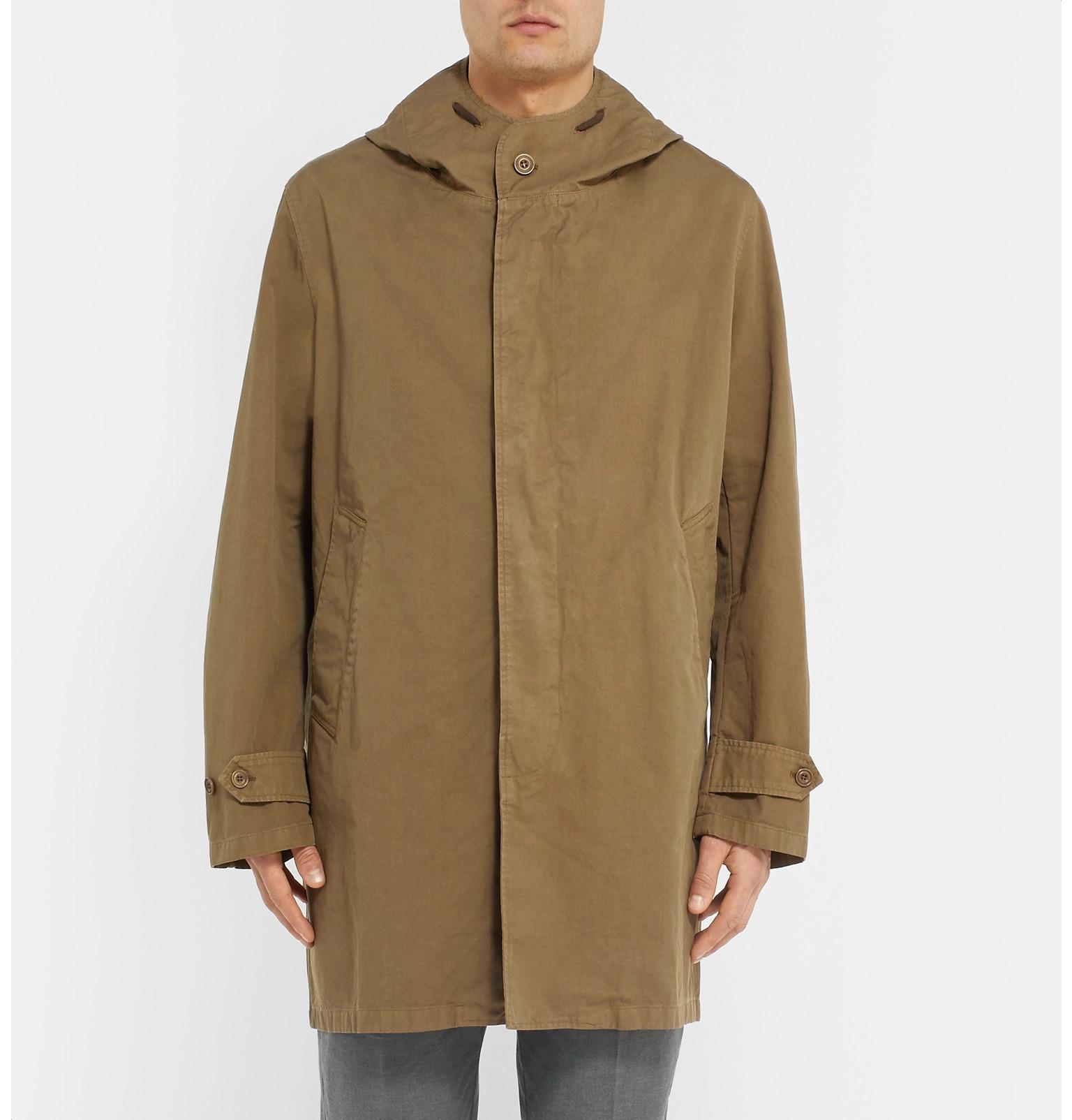 Oversized Cotton twill Hartford Beige Coat Hooded Carter Paqdn