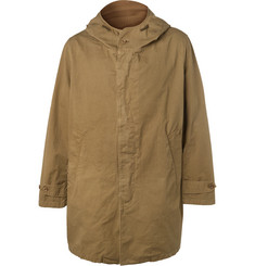 Hartford - Carter Oversized Cotton-Twill Hooded Coat