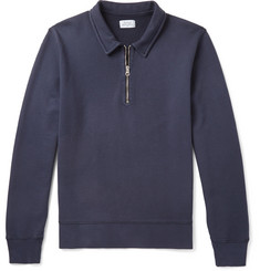 Hartford Loopback Cotton-Jersey Half-Zip Sweatshirt