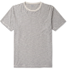 Hartford Striped Mélange Cotton-Jersey T-Shirt