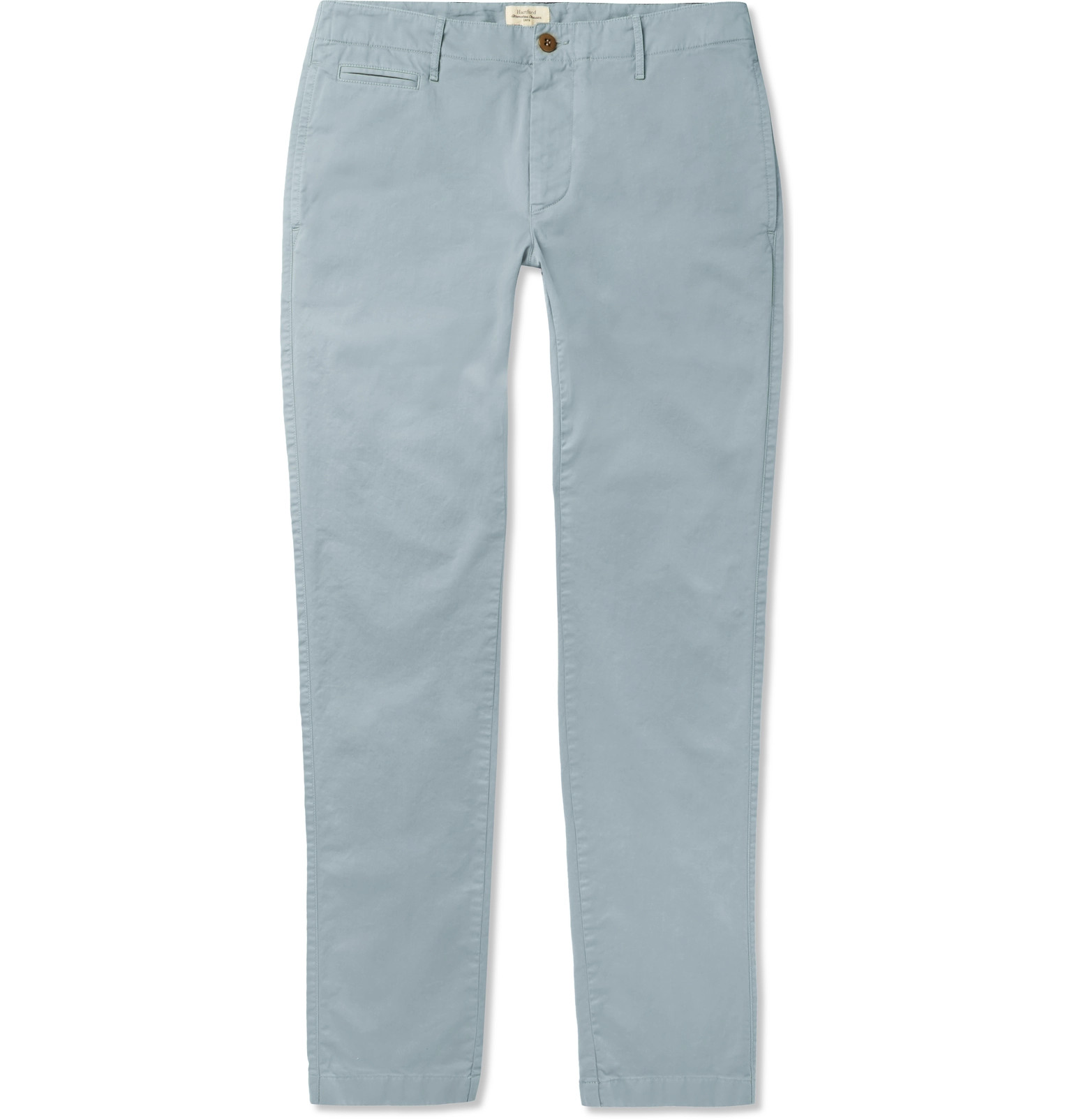 Tuscan Stretch-cotton Twill Chinos - Sky blueHartford