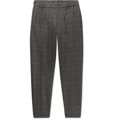 Club Monaco Plaid Slim-Fit Tapered Puppytooth Stretch-Wool Trousers