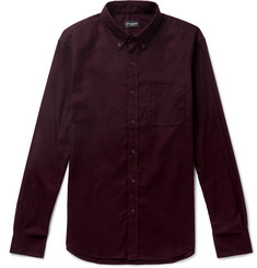 Club Monaco - Slim-Fit Button-Down Collar Cotton-Flannel Shirt
