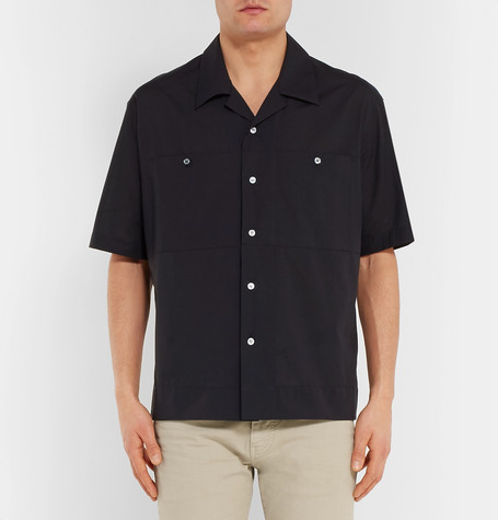 Camp Collar Cotton Shirt by Dunhill