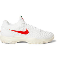 Nike Tennis - Air Zoom Cage 3 HC Rubber and Mesh Tennis Sneakers