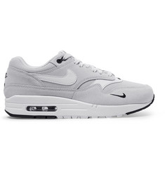 Nike Air Max 1 Premium Leather-Trimmed Suede and Mesh Sneakers