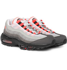 Nike - Air Max 95 OG Grosgrain-Trimmed Faux Suede and Mesh Sneakers