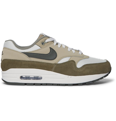 Air Max 1 Suede, Nubuck And Mesh Sneakers Green