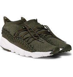 Nike - Air Footscape Woven Chukka Leather and Flyknit Sneakers