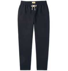 De Bonne Facture Brushed Wool and Cotton-Blend Drawstring Trousers