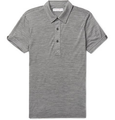 Orlebar Brown Sebastian Slim-Fit Mélange Merino Wool Polo Shirt
