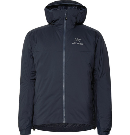 c0cdb8138 Arc Teryx Atom Ar Padded Ripstop Hooded Jacket In Navy