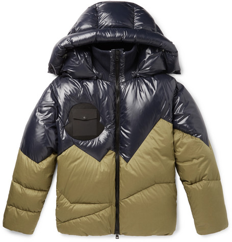 2 Moncler 1952 Two Tone Quilted Shell Hooded Down Jacket by Moncler Genius