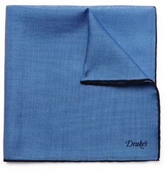 Drake's Wool and Silk-Blend Pocket Square