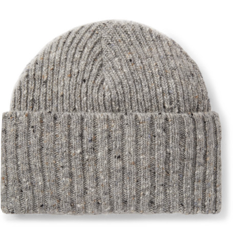 4316638c299 Drake S Ribbed Donegal Merino Wool Beanie - Gray - One Siz