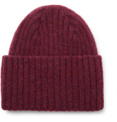 Drake's - Ribbed Mélange Wool Beanie