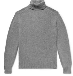 Drake's Mélange Wool Rollneck Sweater