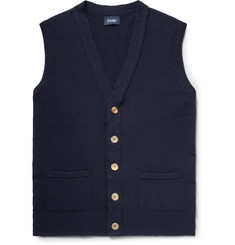 Drake's Slim-Fit Wool Sweater Vest