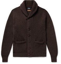 Drake's Slim-Fit Shawl-Collar Ribbed Wool Cardigan