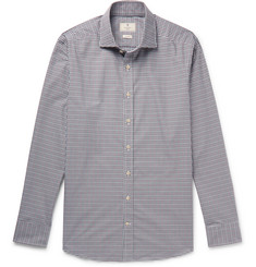 Hackett - Slim-Fit Cutaway-Collar Checked Cotton Shirt