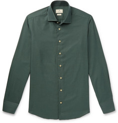 Hackett Slim-Fit Cutaway-Collar Cotton-Twill Shirt