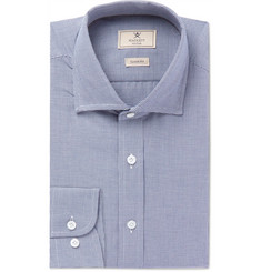 Hackett Navy Cutaway-Collar Puppytooth Cotton Shirt