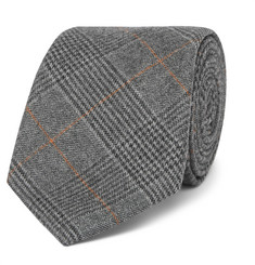 Hackett 8cm Prince of Wales Checked Wool Tie