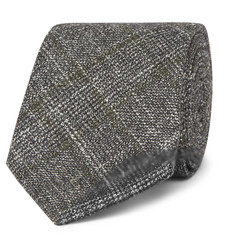 Hackett 8cm Prince of Wales Checked Wool, Silk and Cashmere-Blend Tie