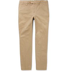 Hackett Kensington Slim-Fit Brushed Stretch-Cotton Twill Chinos